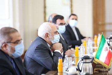 محمد جواد ظریف  وزیر امور خارجه جمهوری اسلامی ایران در دیدار با همتای سوری