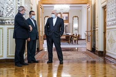 محمد جواد ظریف  وزیر امور خارجه قبل از دیدار با همتای سوری