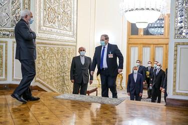 دیدار فیصل المقداد وزیر امور خارجه جدید سوریه با محمد جواد ظریف  وزیر امور خارجه جمهوری اسلامی ایران