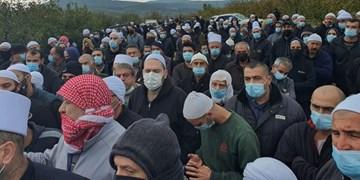 تجمع ساکنان «مجدل شمس» در جولان اشغالی علیه پروژه صهیونیستها