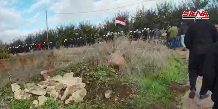 تظاهرات در جولان اشغالی؛ رژیم صهیونیستی از گاز سمی استفاده کرد