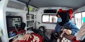نجات جان مادر باردار در  روستای برفی اورنه