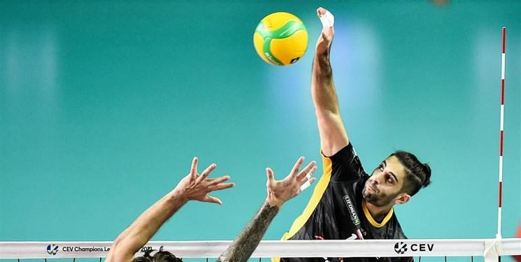 والیبال لیگ قهرمانان اروپا | پیروزی اسکرابلچاتوف با درخشش عبادی پور / میلاد ارزشمندترین بازیکن شد