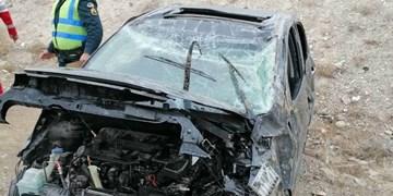واژگونی ۲ خودرو در محورهای سمنان با ۷ مصدوم