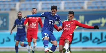 برتری 2 گله استقلال مقابل شهرخودرو در پایان نیمه اول/تیم رحمتی 10 نفره شد