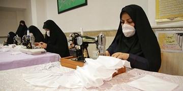 تولید روزانه ۳۰ هزار ماسک با اشتغالزایی برای زنان مسجدی