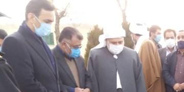 ادای احترام نماینده ولی فقیه در کردستان به شهدای کامیاران
