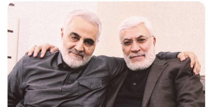 عکس| حضور مقامات عراقی در مراسم یادبود شهید سلیمانی و شهید المهندس