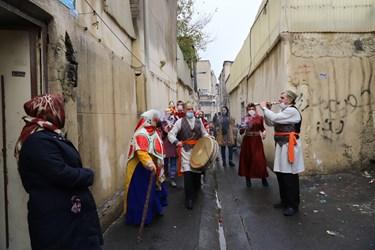 جشن یلدا در محله دروازه غار