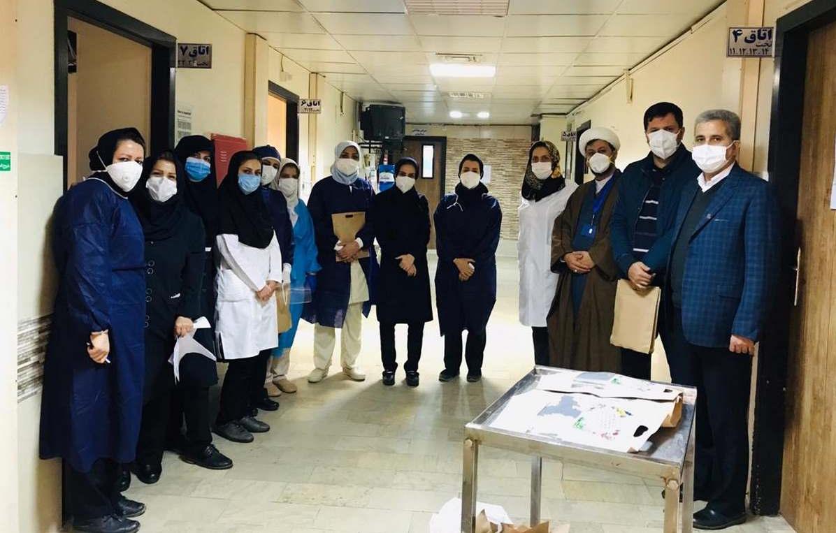 13990930000413 Test NewPhotoFree - تجلیل از پرستاران بخش کرونای بیمارستان شهدای یافتآباد و لولاگر