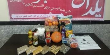 اهدای ۷۵ بسته غذایی بین نیازمندان به خانوادههای نیازمند همدان