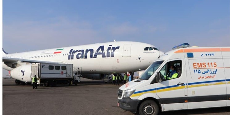 فرود اضطراری پرواز پاریس در تبریز+ عکس