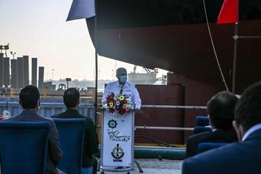 سخنرانی محسن صمدی مدیر شرکت صدرا در مراسم رونمایی و به آب انداختن نفتکش اقیانوسپیما توسط قرارگاه خاتم الانبیاء
