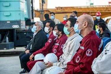 حضور پرسنل شرکت صدرا در مراسم رونمایی و به آب انداختن نفتکش اقیانوسپیما توسط قرارگاه خاتم الانبیاء