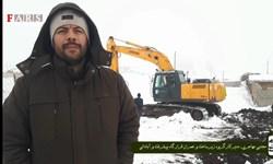 فیلم| تلاش جهادگران قرارگاه پیشرفت و آبادانی برای آبرسانی به یک روستا در سرمای زمستان