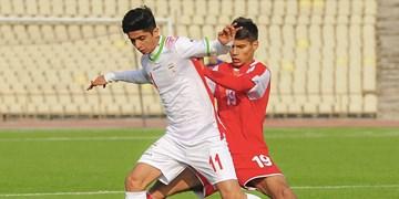 برتری تیم ملی فوتبال نوجوانان ایران  در خانه تاجیکستان