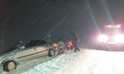 کولاک شدید در جادههای استان اردبیل/ ارتفاع برف در مناطق کوهستانی به یک متر رسید