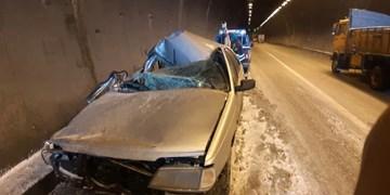 ۴ کشته و مصدوم در برخورد خودروی سمند با کامیون خاور در کوشک