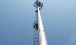 نصب مرتفعترین دکل تلسکوپی انتقال برق کشور در مشهد