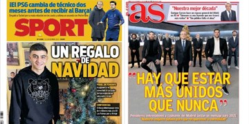 نگاهی به مطبوعات اسپانیا | از حال و هوای سال نو تا پیام رئالیها در آستانه 2021