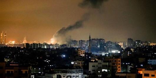 جنگندهها و توپخانه رژیمصهیونیستی مناطقی در غزه را بمباران کردند