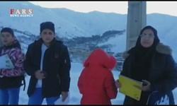 فیلم| داستان پُر غصه نبود اینترنت در روستای گلجار مرند/ تشکیل کلاس درس در بالای کوه و برف
