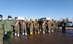 2 شهید گمنام در رفسنجان آرام گرفتند/ تدفین شهدا در پردیس دانشگاه علوم پزشکی
