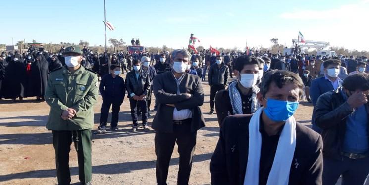 پیکر پدر شهیدان «یزدان، محسن و صادق» بنیعامریان در کرمانشاه تشییع شد