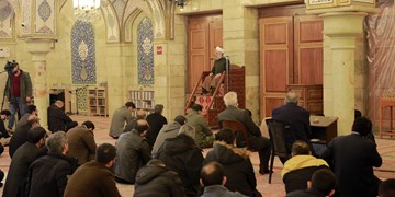 سوگواری شهادت حضرت زهرا (س) در حرم ریحانةالحسین+تصاویر