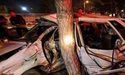 واژگونی مرگبار پراید در اتوبان شهید باکری تبریز