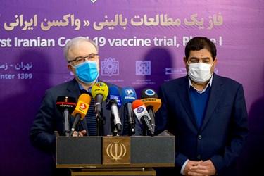 سخنرانی سعید نمکی وزیر بهداشت،درمان و آموزش پزشکی پس از مراسم آغاز تست واکسن کرونا ساخت ایران