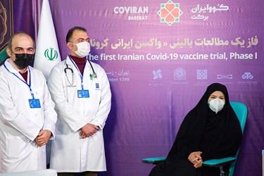 اولین تزریق انسانی فاز یک مطالعات بالینی واکسن کرونای ساخت ایران  برفرزند دکتر محمد مخبر رئیس ستاد اجرایی فرمان حضرت امام(ره)