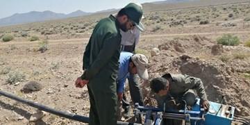 مشارکت سپاه در تامین و رفع مشکل آب شرب ۴ روستا در فهرج