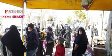 توزیع روغن دولتی در بازار شهر سیسخت