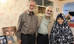 فیلم| یادی از «سردار سلیمانی» در منزل «شهیدان حاجیبابایی»