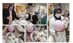 ترخیص نوزاد 600 گرمی از بیمارستان پس از 100 روز