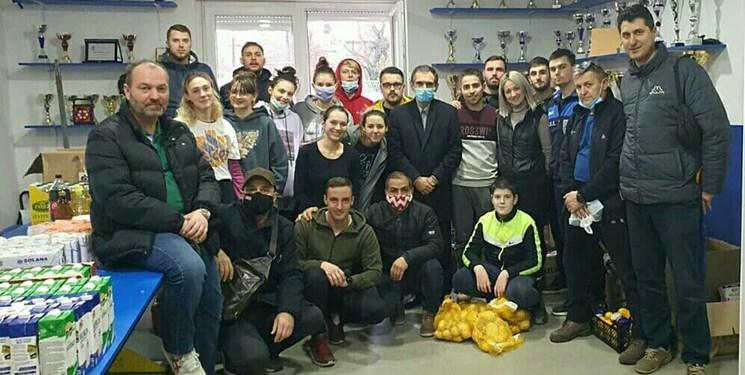 توزیع کمک های کارکنان سفارت و ایرانیان مقیم در مناطق زلزله زده کرواسی