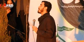 فیلم  نوای حاجمهدی رسولی در گلزار شهدای کرمان