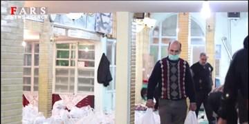 فیلم| توزیع بستههای کمک معیشتی به یاد حاج قاسم در قزوین