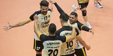 لیگ برتر والیبال| پیروزی قاطع سپاهان مقابل هورسان رامسر