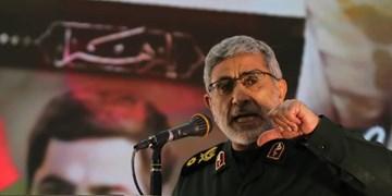سردار قاآنی: انتقام شروع شده است/استخوان آمریکایی ها خرد و از منطقه خارج خواهند شد