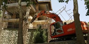تخریب ویلای غیرمجاز یکی از مدیران نهاد ریاست جمهوری در فیروزکوه