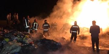 ۵ ساعت تلاش مداوم آتشنشانان از ۶ ایستگاه آتشنشانی جهت مهار حریق در لیا