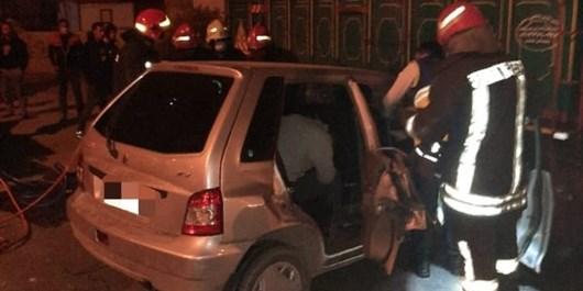 یک کشته و سه مجروح در برخورد پراید با کامیون در شیراز