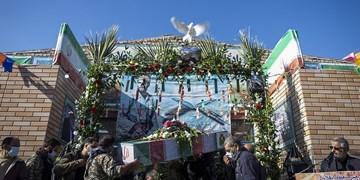 تشییع شهید گمنام در روستای علاء سمنان