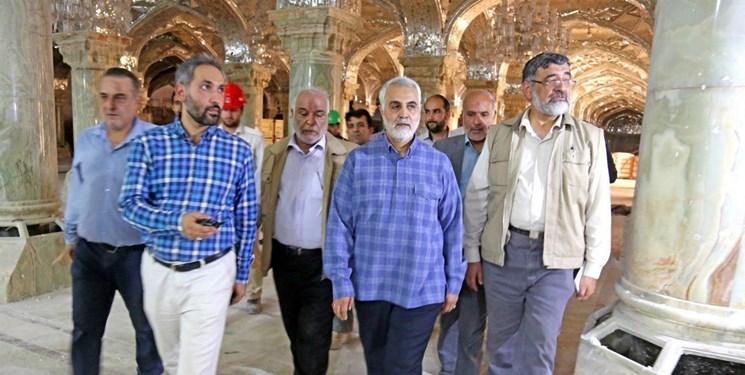 فعالیتهای عمرانی شهید سلیمانی در ایران و عراق/ ستاد بازسازی عتبات باید مردمی بماند