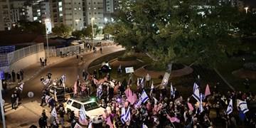 فیلم| تداوم تظاهرات علیه نخست وزیر رژیم صهیونیستی در قدس اشغالی