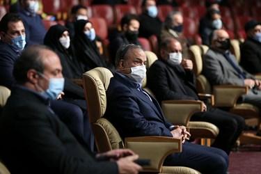 حضور علیرضا رزم حسینی وزیر صمت در مراسم رونمایی از تندیس شهید سپهبد قاسم سلیمانی در برج میلاد