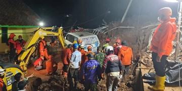 عکس| رانش زمین در اندونزی 11 کشته برجا گذاشت