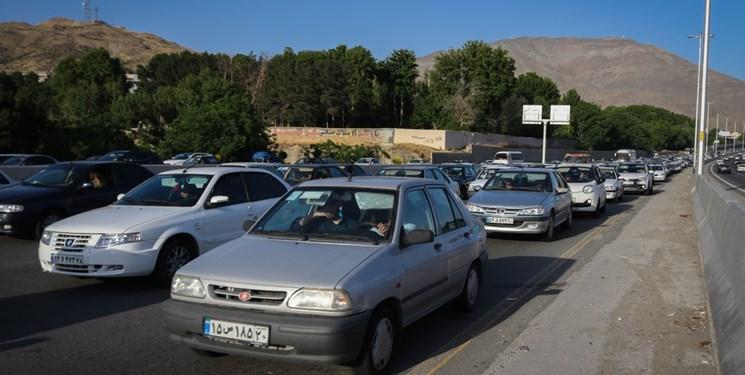 ترافیک جاده چالوس در روز آخر تابستان / تردد پرحجم خودرو در آزادراه کرج - قزوین - کرج